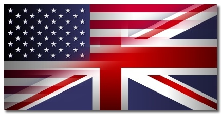Asian Business Card Translations - British American Flag