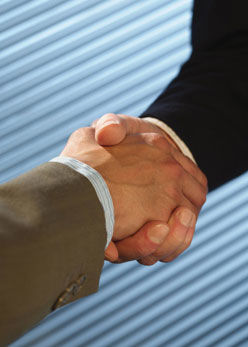 Chinese Business Shake Hands