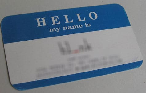 Hello Name Card