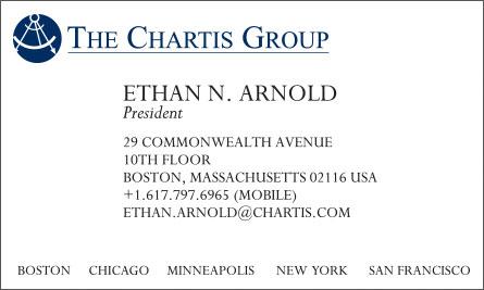 chartis Arabic English Business Card Translation Sample