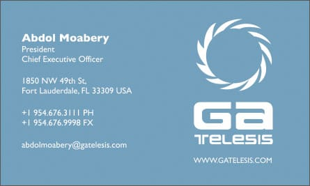 gatel Arabic English Business Card Translation Sample