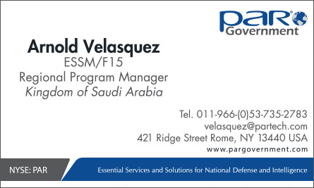 par Arabic English Business Card Translation Sample