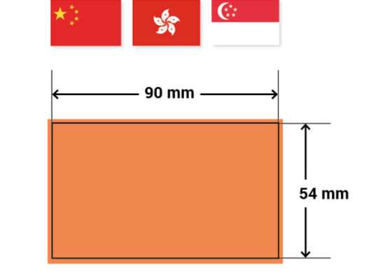 Sizes and Aspect Ratios for various business cards around the world large