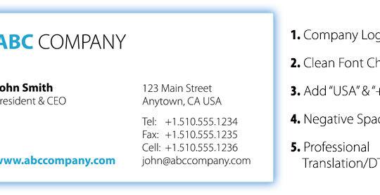 International Business Card Design Tips