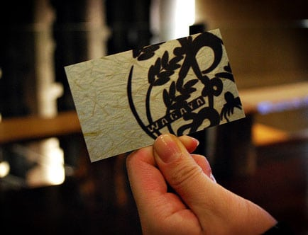 Creative Business Card Design Japanese Calligraphy