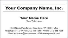 Black & White Business Card Template Style A