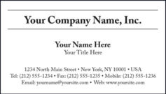 Black & White Business Card Template Style B