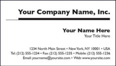 Black & White Business Card Template Style C