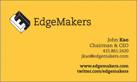 edge English Business Card Translation Sample
