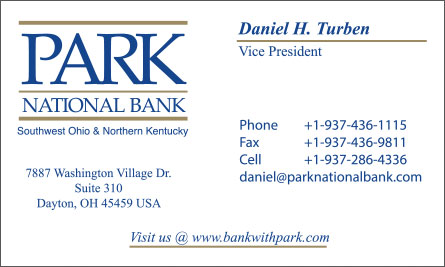 park English Business Card Translation Sample