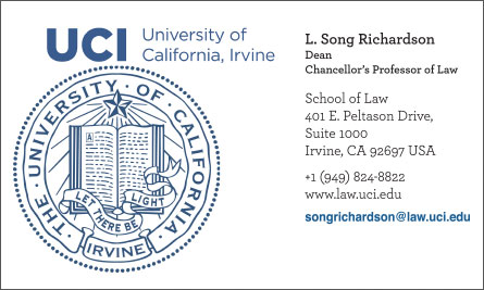 uci English Business Card Translation Sample