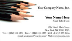 English Business Card Design Template: ART0001
