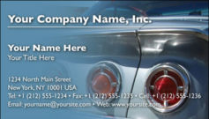 English Business Card Design Template: AUT0003
