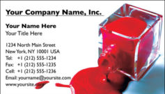 English Business Card Design Template: BEA0004
