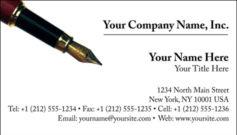 English Business Card Design Template: BIZ0001