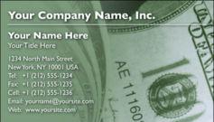 English Business Card Design Template: FIN0006