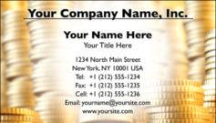 English Business Card Design Template: FIN0007