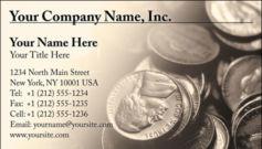English Business Card Design Template: FIN0008