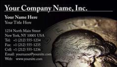 English Business Card Design Template: FIN0012
