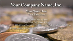 English Business Card Design Template: FIN0014