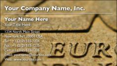 English Business Card Design Template: FIN0015