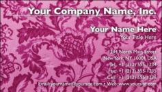 English Business Card Design Template: FLR0003