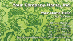 English Business Card Design Template: FLR0005