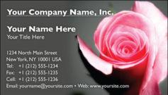 English Business Card Design Template: FLR0008