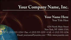 English Business Card Design Template: GBL0005