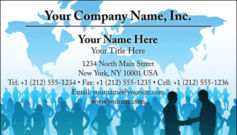 English Business Card Design Template: GBL0015