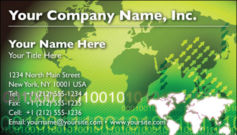 English Business Card Design Template: GBL0020