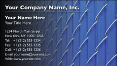 English Business Card Design Template: SEC0003