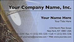 English Business Card Design Template: TEC0003