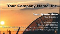 English Business Card Design Template: TEC0007