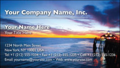 English Business Card Design Template: TRA0013