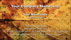 English Business Card Design Template: TXT0010