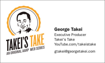 George Takei English Business Card Translation Sample Business Card