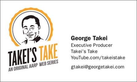 George Takei English Business Card Translation Sample Business Card