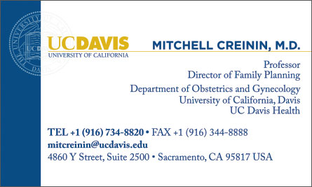 UC Davis English Business Card Translation Sample Business Card