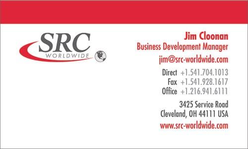 SRC Worldwide Korean Business Card Translation Sample - English