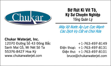 Chukar English Vietnamese Business Card Translation Sample