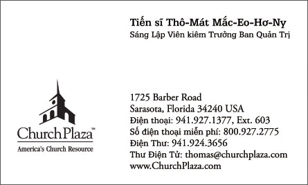 church English Vietnamese Business Card Translation Sample