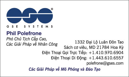 gse English Vietnamese Business Card Translation Sample
