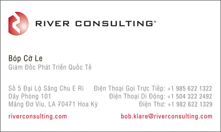 river English Vietnamese Business Card Translation Sample