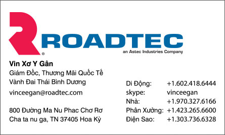 road English Vietnamese Business Card Translation Sample