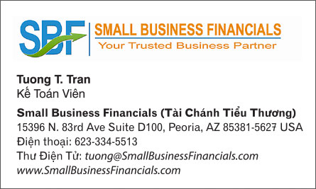 sbf English Vietnamese Business Card Translation Sample