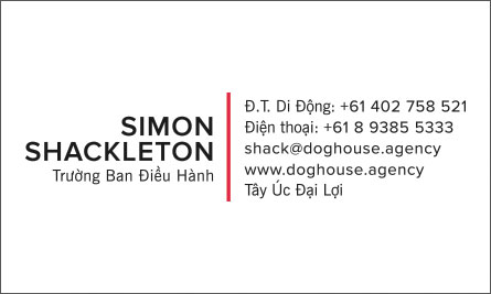 shack English Vietnamese Business Card Translation Sample