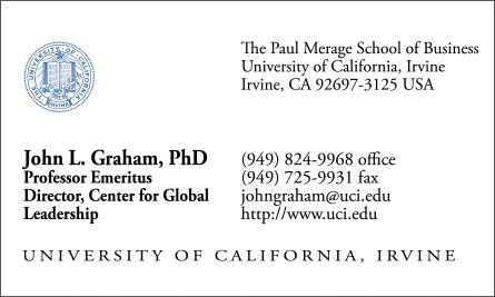 uci English Vietnamese Business Card Translation Sample